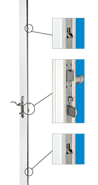 Anlin 3 point locking system on swinging French door