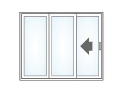 Anlin sliding patio door oox configuration