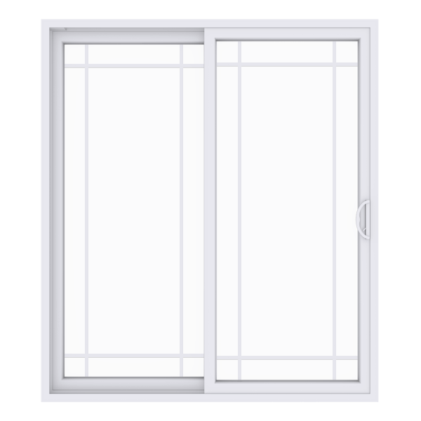 Anlin sliding patio door with queen anne grid