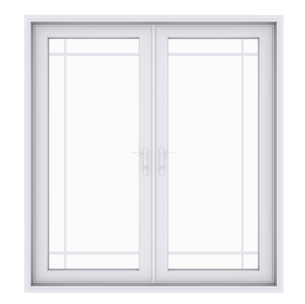 Anlin swinging French door with perimeter grids