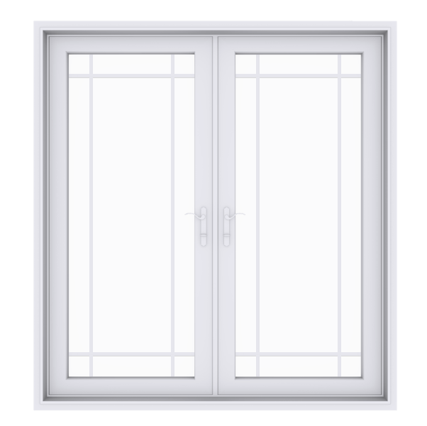 Anlin swinging French door with queen anne grids